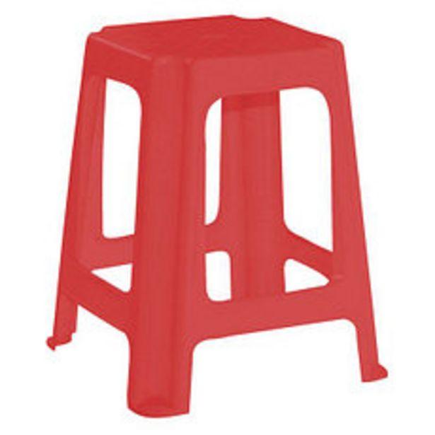Oferta de Banqueta Plástica Roja Acero Taly por $221,4
