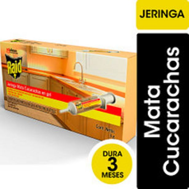 Oferta de Jeringa Mata Cucarachas Raid Max Gel 3Gr por $225