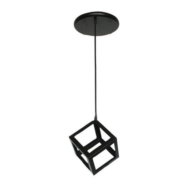 Oferta de Lámpara de Colgar Cubo 1L E27 Negro 23Cm por $2375