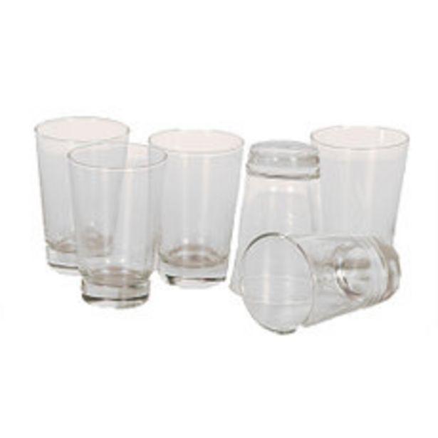 Oferta de Pack x6 Vasos Seelze 360Cc Flint por $745