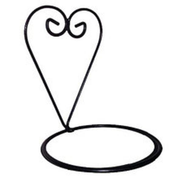Oferta de Corazón Para Pared Con Aro 16 Cm Negro por $404