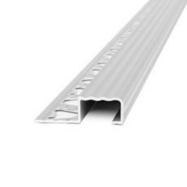 Oferta de Protector Escalera Aluminio Cromado 2.50Mts 10.5x20Mm por $1269