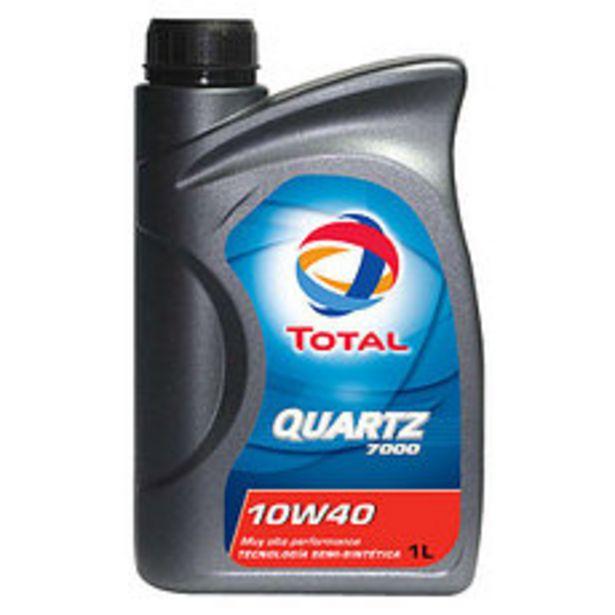 Oferta de Lubricante Quartz Total 7000 10W40 1 Lt por $1016