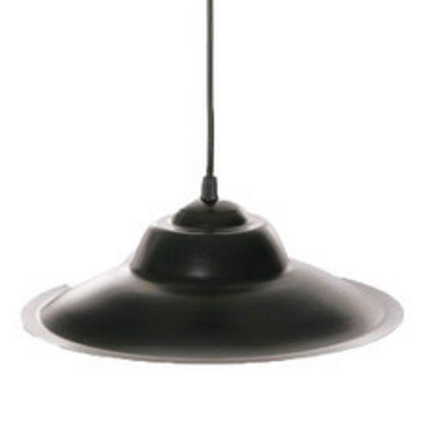 Oferta de Colgante Inc 1 Luz Chapa Negro 32Cm por $1195