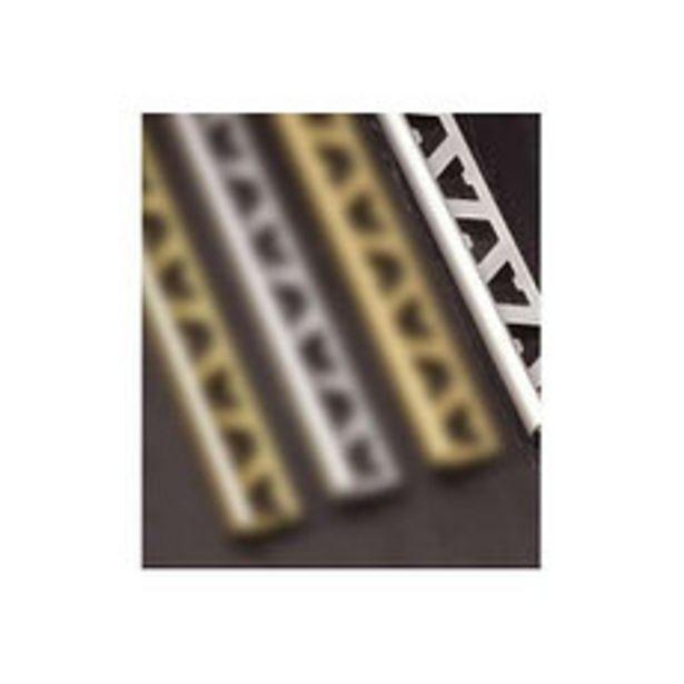 Oferta de Guardacanto Aluminio Cromo Mate 9Mm x2.5M por $547,5