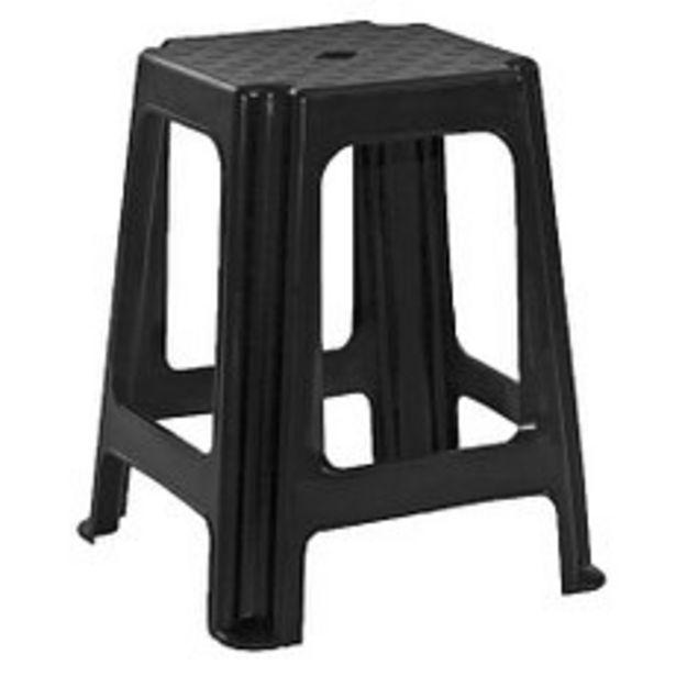 Oferta de Banqueta Plástica Negra Acero/Taly por $237