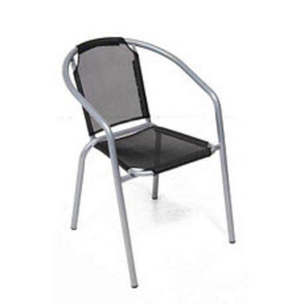 Oferta de Silla Caño y Textileno Negro por $2241