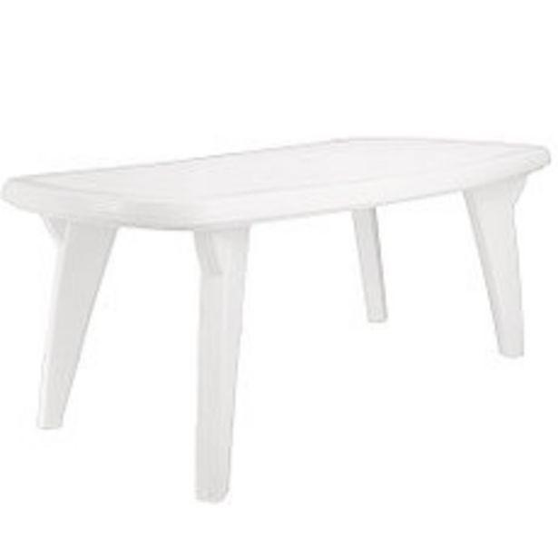 Oferta de Mesa plástica blanca rectangular por $14031