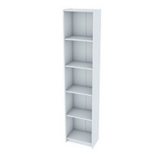 Oferta de Biblioteca Mini 5 Estantes 40x25x180 Blanca por $4590