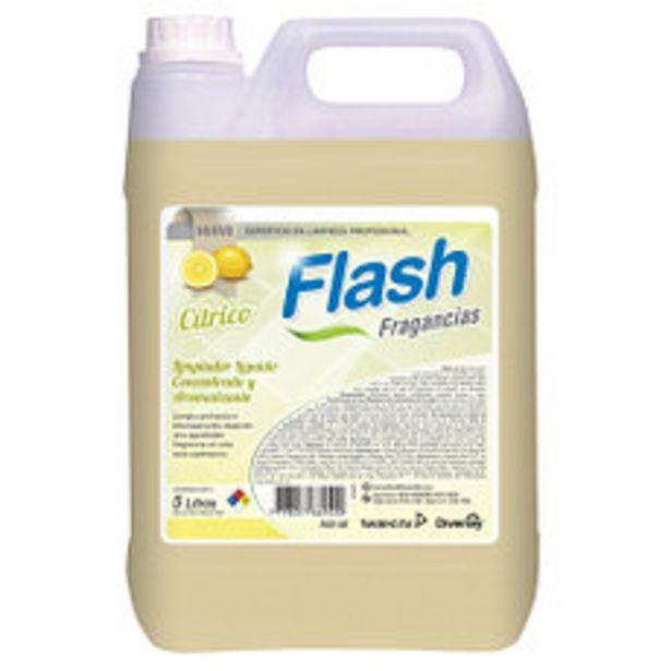 Oferta de Limpiador de pisos Flash Fragancias Cítrico 5 Lts por $407,15