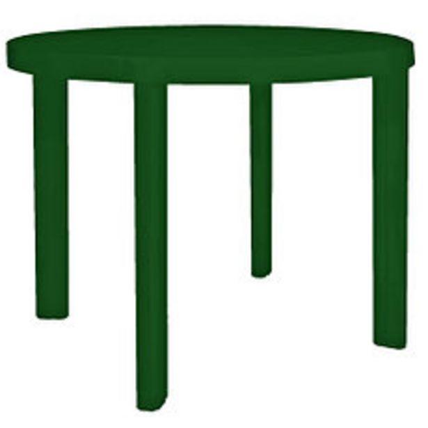 Oferta de Mesa Plástica Redonda 90 Cm. Guinea Verde por $3141