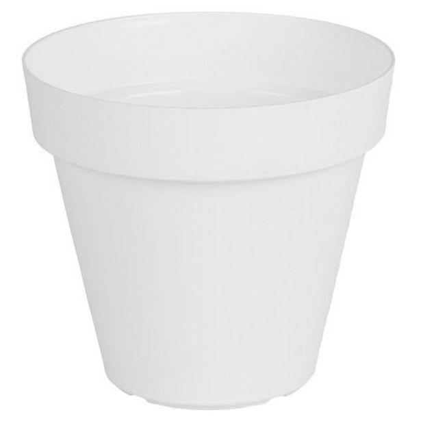 Oferta de Maceta Plástica Capri Blanco 25 Cm por $565,6