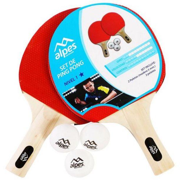 Oferta de Paleta De Ping Pong 1 Estrella Con Pelotas por $699