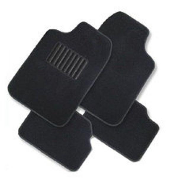 Oferta de Cubre Alfombra Lisa Boucle 4 Piezas Negro por $1590