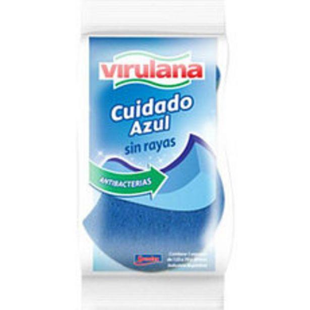 Oferta de Esponja con Fibra de Virulana Cuidado Azul por $63,75