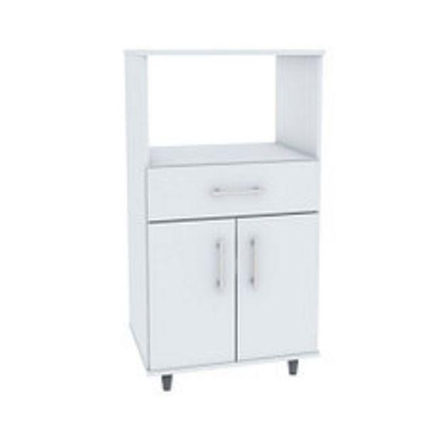 Oferta de Rack Microondas 54X45X73 Blanco por $7690