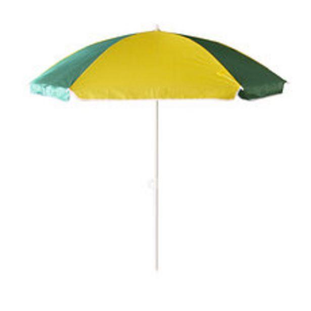 Oferta de Sombrilla de Caño 1.8m Playera Verde/Amarillo por $615,2