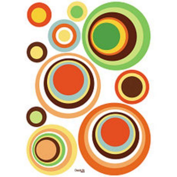 Oferta de Vinilo Wallstickers circulos de colores por $415,2