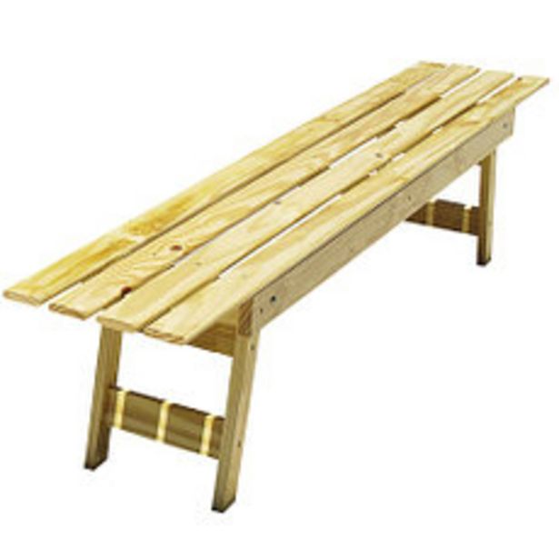Oferta de Banco Plegable 2x0.34x0.42 M Natural por $3150