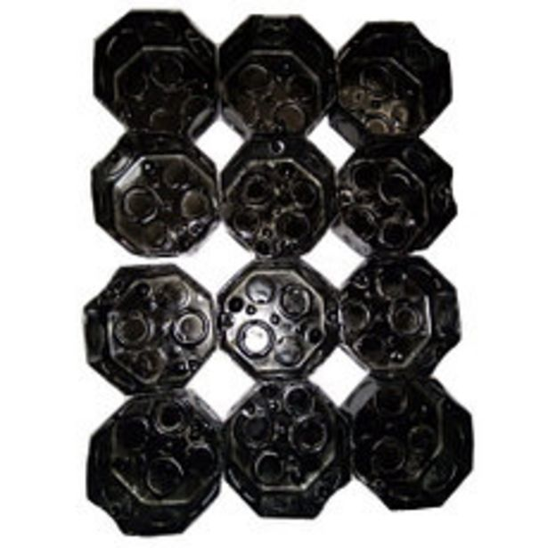 Oferta de Caja Octogonal Chica 7x7 Hierro Negra por $299