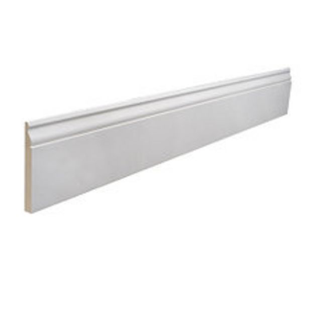 Oferta de Zócalo (9551) Mdf Base Blanco 14x133x3.66 Mts por $995