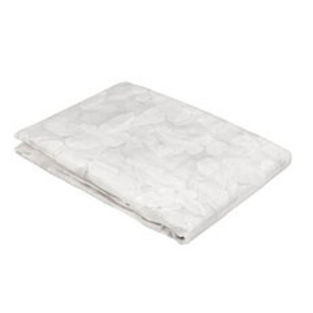Oferta de Cortina 140x230 Cm. Velo Burn Out Mariposa Blanco por $3436
