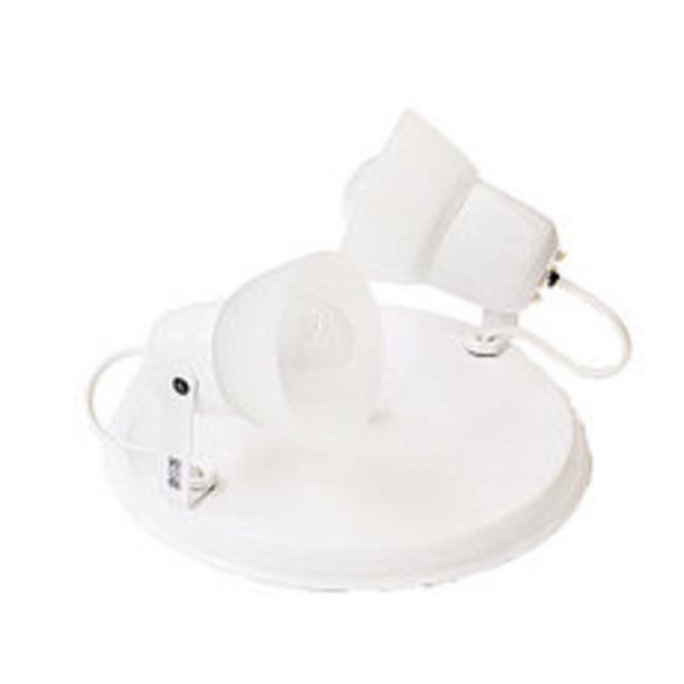 Oferta de Spot Incandescente 2 Luces Vidrio Blanco Super Mini Plato por $1495