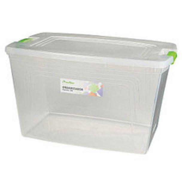 Oferta de Caja Organizadora Transparente 60 Lts por $1496,25
