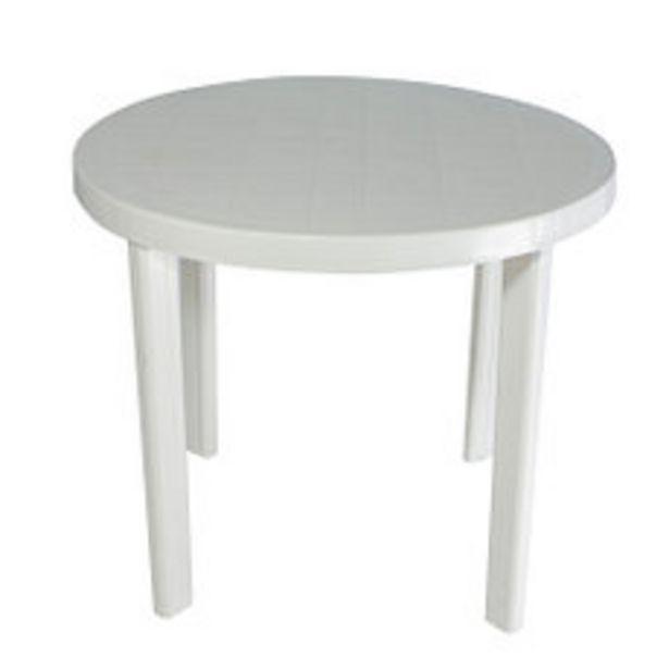 Oferta de Mesa Plástica Redonda 90 Cm Guinea Blanca por $2691