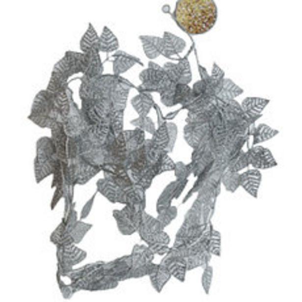Oferta de Guirn Flores Silver 170CM Metalica N1 por $419,3