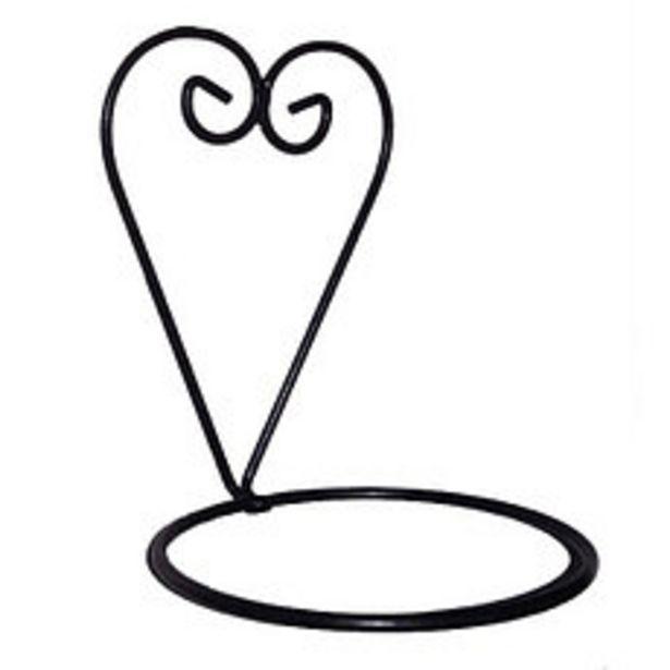 Oferta de Corazón Para Pared Con Aro 14 Negro por $364