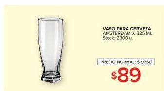 Oferta de Vaso para cerveza amsterdam x 325ml  por $89