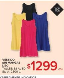 Oferta de Vestido sin mangas por $1299