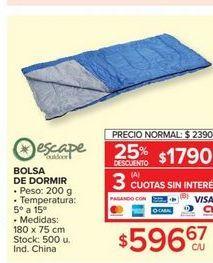 Oferta de Bolsa de dormir por $2390
