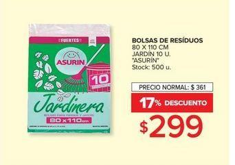 Oferta de Bolsa de residuos 80 x 110cm  ASURIN por $299