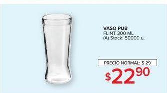 Oferta de Vaso pub flint 300ml  por $22,9