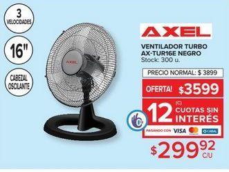 Oferta de Ventilador turbo AXEL  por $299,92