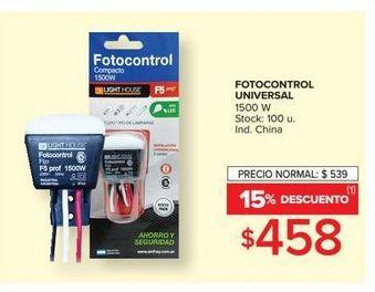 Oferta de Fotocontrol universal 1500w  por $458