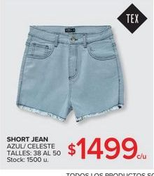Oferta de Short jeans por $1499