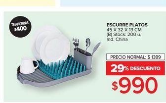 Oferta de Escurre platos 45x32x13cm  por $990