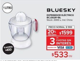 Oferta de Exprimidor eléctrico BLUESKY  por $533