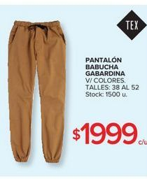 Oferta de Pantalon babucha gabardina  por $1999