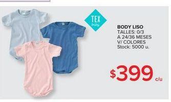 Oferta de Body bebé por $399