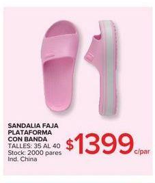 Oferta de Sandalia faja plataforma con banda  por $1399