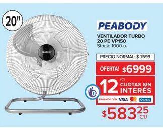 Oferta de Ventilador turbo Peabody por $583,25
