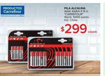 Oferta de Pilas alcalinas AAA/AAAA X 8u por $299