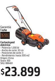 Oferta de Cortacésped eléctrico Black & Decker por