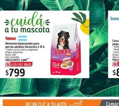 Oferta de Alimento para perros Voraz por