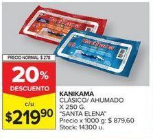 Oferta de Salchichas KANIKAMA X 250G  por $219,9