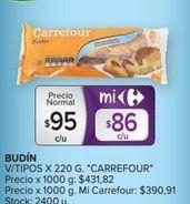 Oferta de Budín V/TIPOS X 220G carrefour  por $95